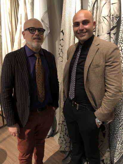 Giuseppe Carillo, CEO, left, and Alessandro Carillo, brand manager, at Angelo Carillo and Co. in Naples, Italy.