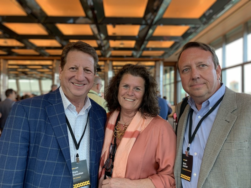 Mark Schechter (Left), senior vice president sales at KB Contract in Denver, Colorado, Elaine Schroder, senior sales manager at KB Contract, and Mark Satcher, national sales manager at Spradling International in Pelham, Alabama.