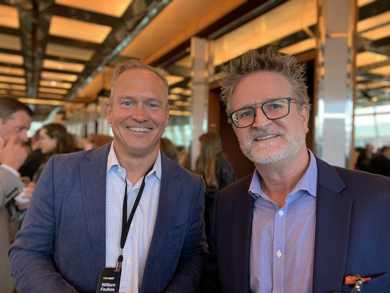William Foulkes, principal at Weft in Providence, Rhode Island, and Dave White, vice president of textiles at Luum Textiles in Chicago, Illinois.